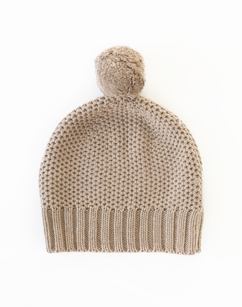 Honeycomb Hat - oatmeal