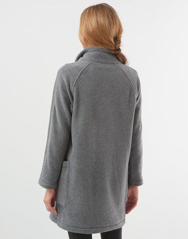 Polar Fleece Funnel Coat-grey