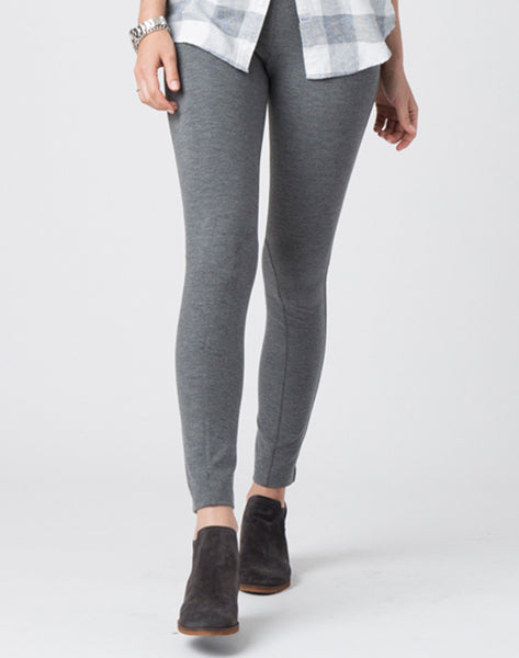Pull-on Riding Legging Pant-grey heather