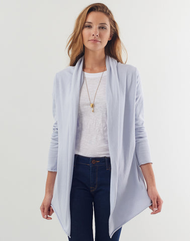 Tissue Cardigan - chalk blue