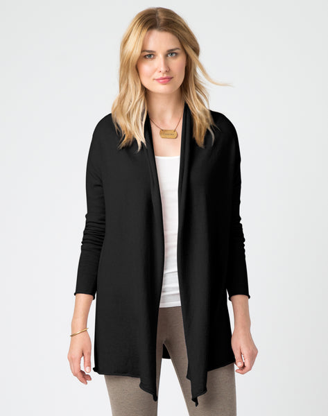 Tissue Cardigan - black
