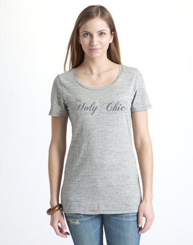Holy Chic Tee - antique grey mix