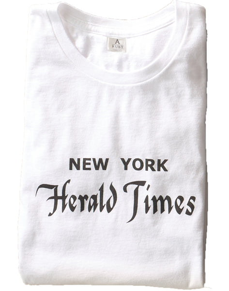 New York Herald Tee - white