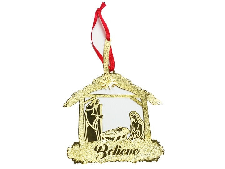 """BELIEVE"" CHRISTMAS ORNAMENT"