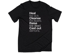 Matthew 10:8 T-Shirt - Black