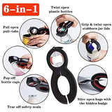 Bottle Can Jar Grip Opener 5-in-1, 6-in-1 Multi Kitchen Tools Set 4-in-1 Jar Grip Opener Lid Seal Remover Weak Hand Arthritic Children Elderly