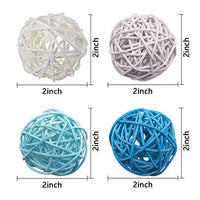 Rattan Ball, 24PCS 2 Inch Wicker Ball Decorative Ball Orbs Vase Fillers