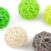 Rattan Ball, 24PCS 2 Inch Wicker Ball Decorative Ball Orbs Vase Bowl Fillers