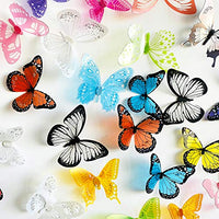 73PCS Butterfly Wall Decals - 3D Butterflies Decor for Wall Removable Mural Stickers Home Decoration Kids Room Bedroom Decor