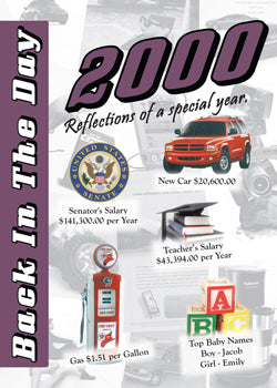 2000 Back In The Day Greeting Card / Booklet (envelope included) - 3 Oak Publishing / Back In The Day