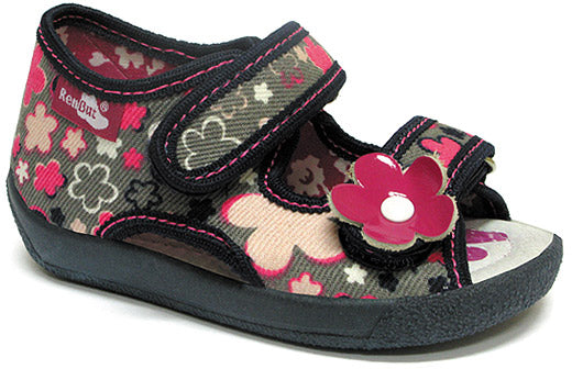 GIRLS SHOE OPEN FLOWER POWER