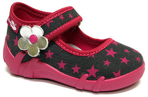 GIRLS SHOE PINK STAR MARY JANE
