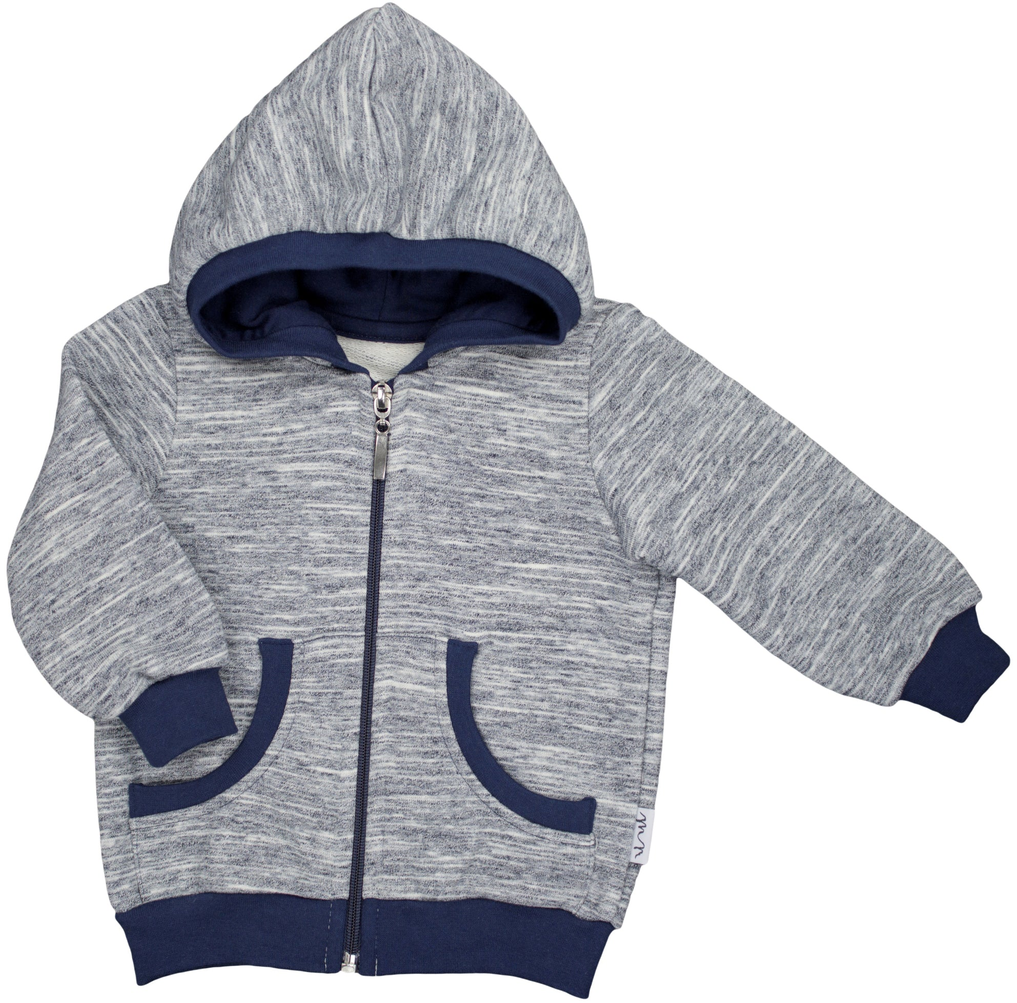 BOYS GRAY NAVY SWEATSHIRT