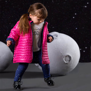 GIRLS PINK QUILTED COAT
