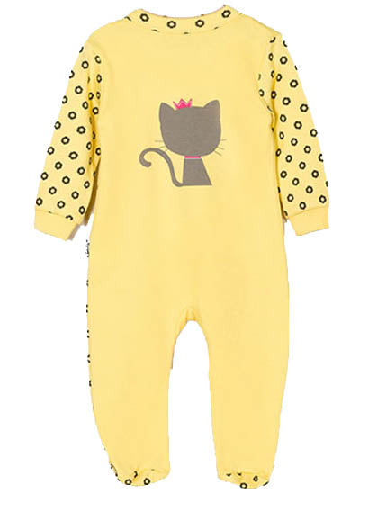 GIRLS BODYSUIT CAT FOOTED