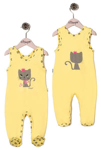 Girls Bodysuit Cat Sleeveless