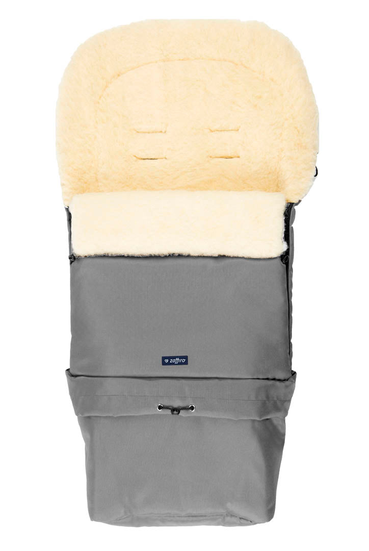 Gray Organic Wool Adjustable Footmuff
