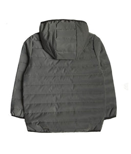 BOYS JACKET GRAY REFLECTIVE PUFFER