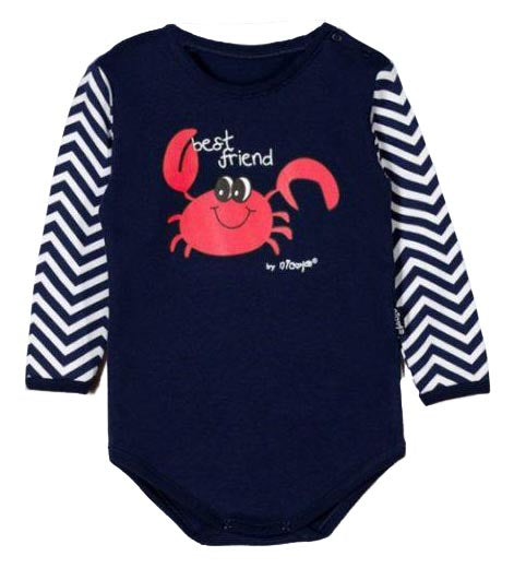 BOYS TOP CRAB BABY BASICS ONE PIECE