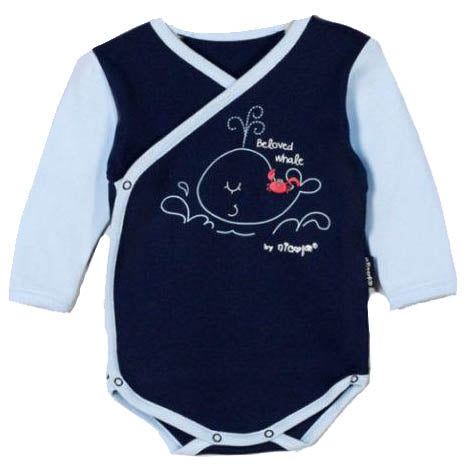 BOYS TOP WHALE BABY BASICS ONE PIECE