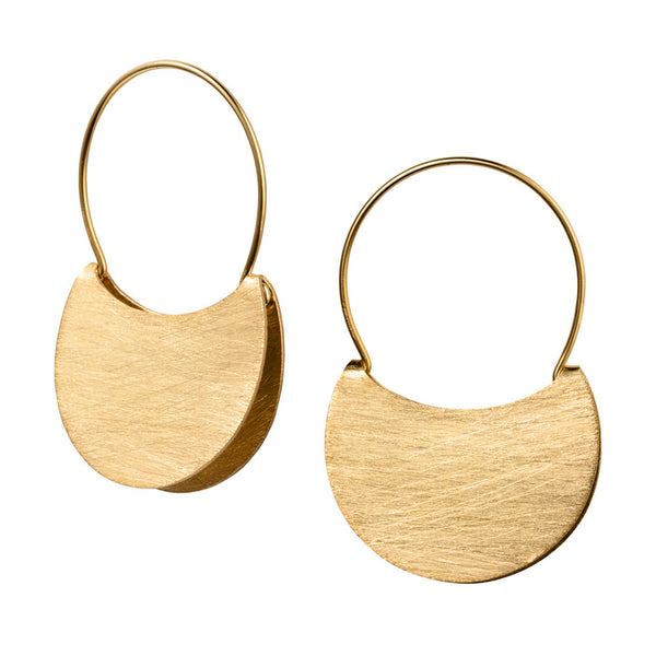 Golden Handbag Hoop Earrings
