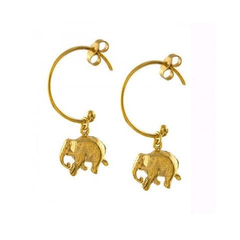 Indian Elephant Hoops - BVE1-GP