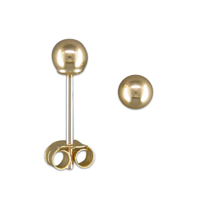 9ct Gold Small Bead Stud