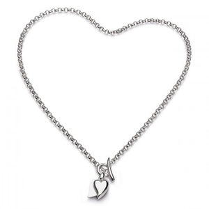 Sterling Silver Desire Love Duet Heart Necklace