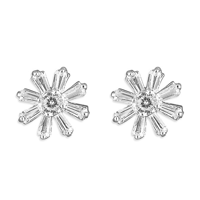 Sterling Silver Delicate Small Flower Studs