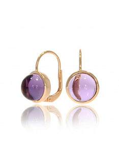 9ct Rose Gold & Amethyst Earrings