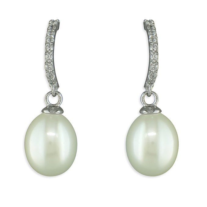 Sterling Silver Freshwater Pearl Drops