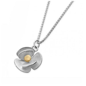 Silver & Gold Flower Necklace - eedfl