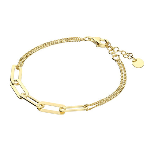 18ct Gold Plated 5 Link Chain Bracelet