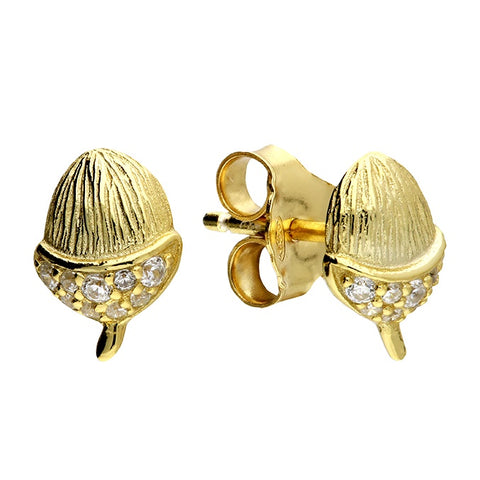 18ct Gold plated Acorn Studs