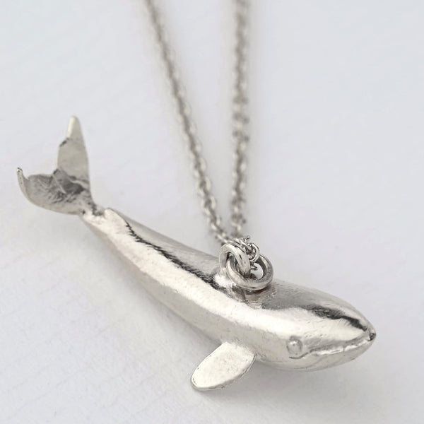 Alex Monroe Silver Baby Blue Whale Necklace - OCN2-S
