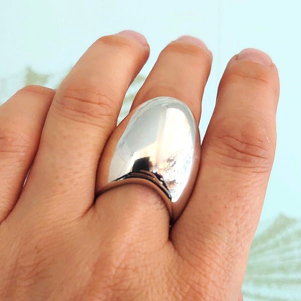 Silver Pebble Ring - QN1
