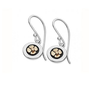 Silver & Gold Poppy Drop Earrings - DPOPL
