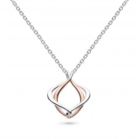 18ct Rose Gold Entwine Alicia Small Necklace