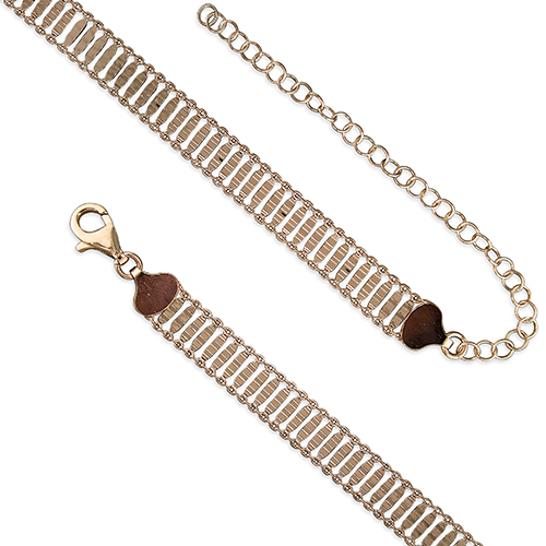 18ct Rose Gold Plated Ladder Style Choker