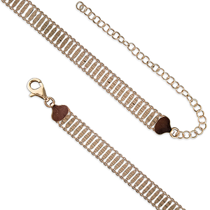 Rose Gold Plated Ladder Style Choker