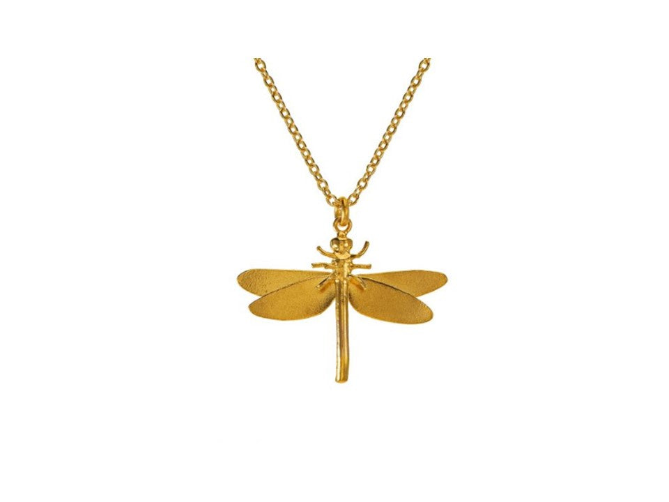 Alex Monroe Gold Dragonfly Necklace - MGN10/GP