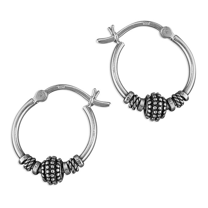 Sterling Silver Sleeper Round Hoops