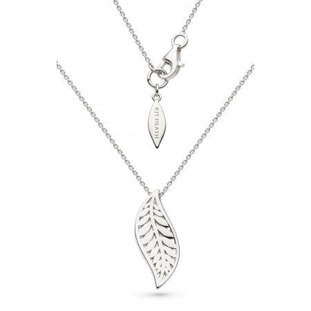 Sterling Silver Blossom Eden Leaf Necklace