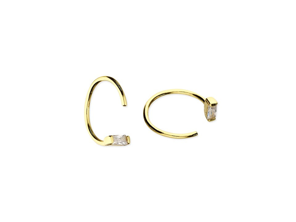 18ct Gold Plated Pull Thru Hoops