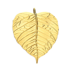 18ct Gold Plated Large Leaf Necklace