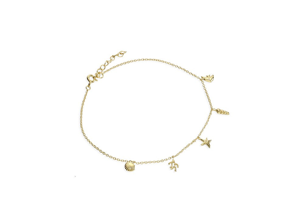 18ct Gold Plated Under the Sea Anklet