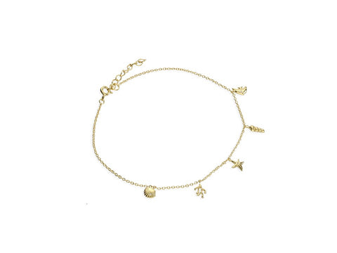 Gold Sea Charms Anklet