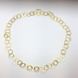 14ct Gold, Fine Circles Necklace
