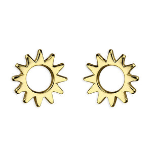 Sterling Silver & 18ct Gold Plated Small Sunshine Studs