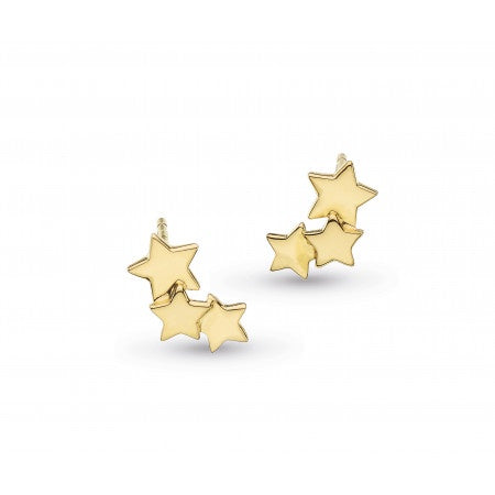 18ct Gold Plated Stargazer Studs